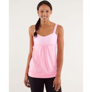 Lululemon Back On Track Tank Top Pink Size 4
